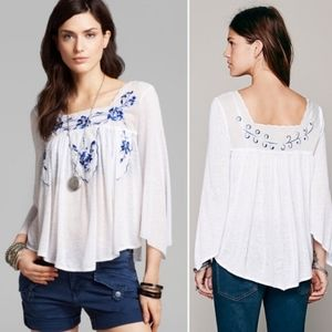 *Minor Flaw* FREE PEOPLE Embroidered Blouse